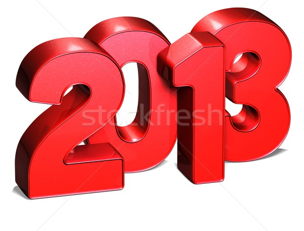 3D Year 2013 on white background Stock photo © Mariusz_Prusaczyk