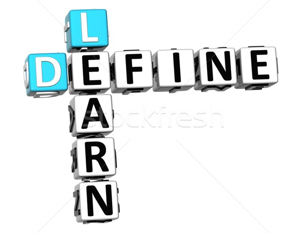 3D Define Learn Crossword cube words Stock photo © Mariusz_Prusaczyk