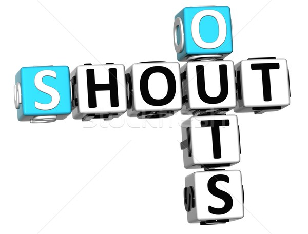 3D Shout Out Crossword cube words Stock photo © Mariusz_Prusaczyk