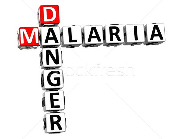 Foto d'archivio: 3D · malaria · pericolo · rischio · cruciverba · testo