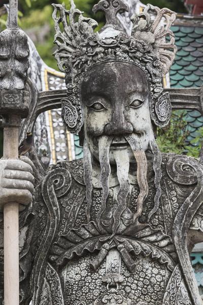 Standbeeld chinese krijger entree tempel Stockfoto © Mariusz_Prusaczyk