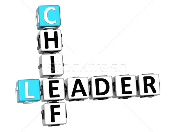 3D Leader Chief Crossword Stock photo © Mariusz_Prusaczyk