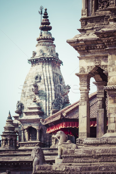 Temples of Durbar Square in Bhaktapur, Kathmandu, Nepal. Stock photo © Mariusz_Prusaczyk