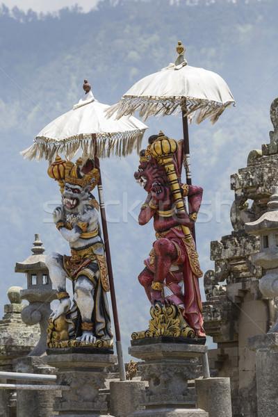 Templom tó Bali Indonézia tájkép kék Stock fotó © Mariusz_Prusaczyk