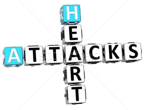 3D Heart Attacks Crossword Stock photo © Mariusz_Prusaczyk
