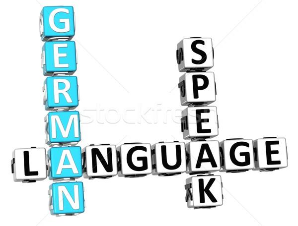 Stock foto: 3D · spanisch · Sprache · Kreuzworträtsel · weiß · Web