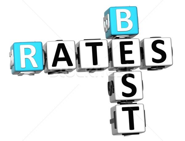 3D Best Today Rates Crossword Stock photo © Mariusz_Prusaczyk