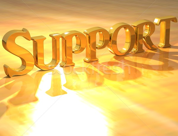 3D Support Gold text  Stock photo © Mariusz_Prusaczyk