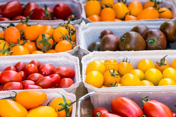 Wenig Tomaten Display Markt Essen Stock foto © Mariusz_Prusaczyk
