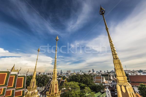 Metal saray Bangkok Taylandlı Tayland kale Stok fotoğraf © Mariusz_Prusaczyk