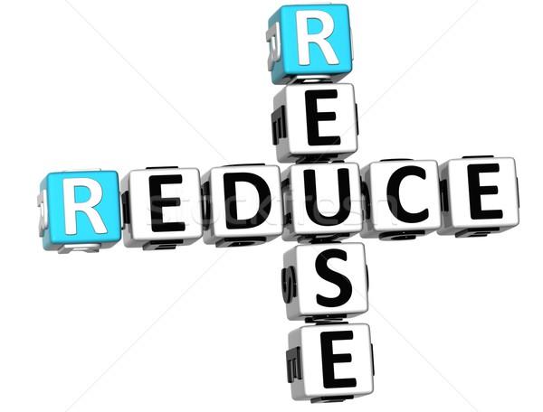 3D Reduce Reuse Crossword Stock photo © Mariusz_Prusaczyk