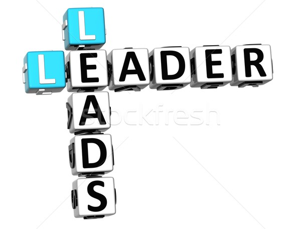 3D Leader Leads Crossword Stock photo © Mariusz_Prusaczyk