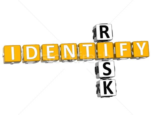 3D Identify Risk Crossword Stock photo © Mariusz_Prusaczyk