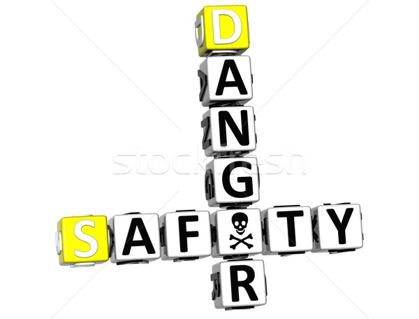 3D Safety Danger Crossword Stock photo © Mariusz_Prusaczyk