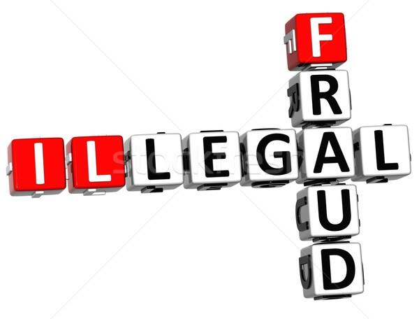 3D vita keresztrejtvény fehér törvény piros Stock fotó © Mariusz_Prusaczyk