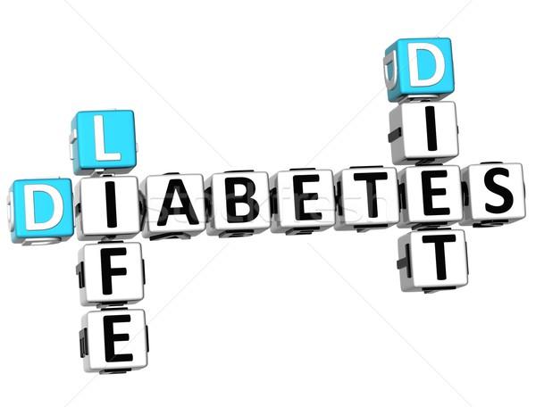 3D 糖尿病 生活 ダイエット クロスワード 白 ストックフォト © Mariusz_Prusaczyk