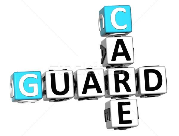 3D Guard Care Crossword Stock photo © Mariusz_Prusaczyk