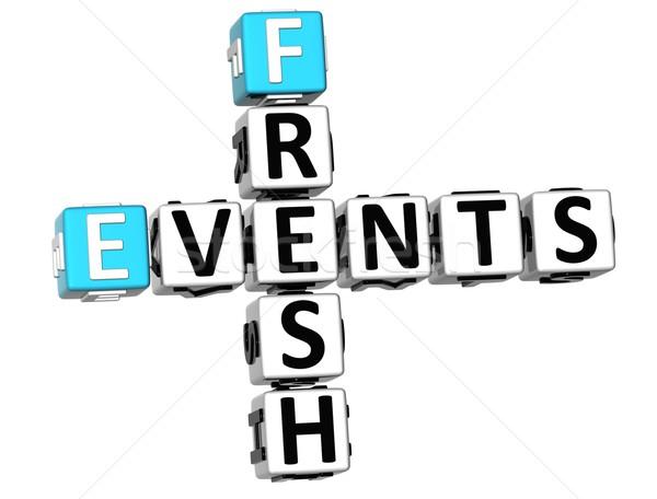 3D Fresh Events Crossword Stock photo © Mariusz_Prusaczyk