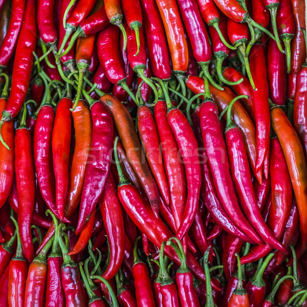 Red chili peppers, closeup view Stock photo © Mariusz_Prusaczyk