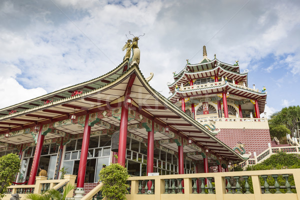 Pagoda and dragon sculpture of the Taoist Temple in Cebu, Philip Stock photo © Mariusz_Prusaczyk