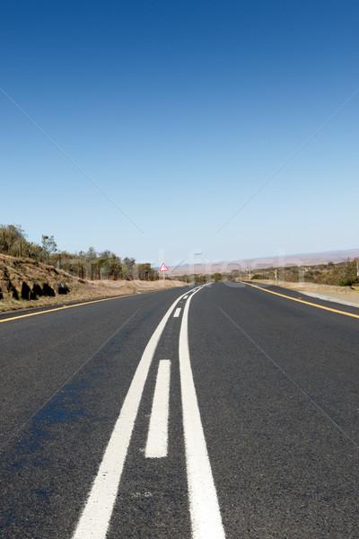 út vezető sehol kék erdő természet Stock fotó © markdescande