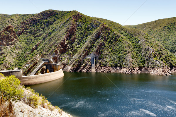 The low water level of the Kouga Dam Stock photo © markdescande