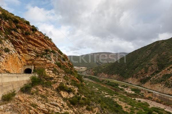 Alagút vezető kilátás oldal út víz Stock fotó © markdescande