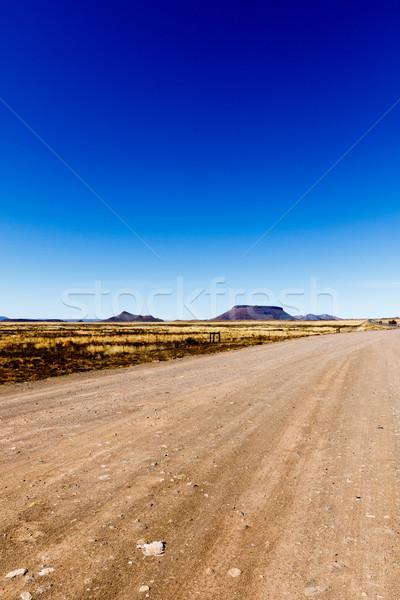 Peu table montagne vue ville orientale Photo stock © markdescande