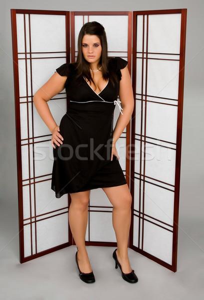 女性 ドレス 若い女性 着用 黒のドレス スタジオ ストックフォト © markhayes