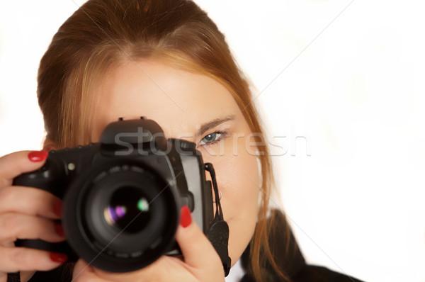 Woman Photographer Stock photo © markhayes