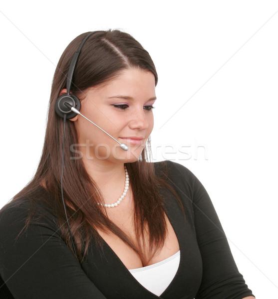 小さな 女性 従業員 電話 販売 ストックフォト © markhayes