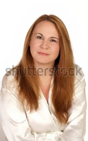 肖像 女性 準備 温泉療法 顔 ストックフォト © markhayes