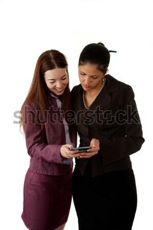 見える 電話 2 オフィスワーカー スマートフォン ストックフォト © markhayes