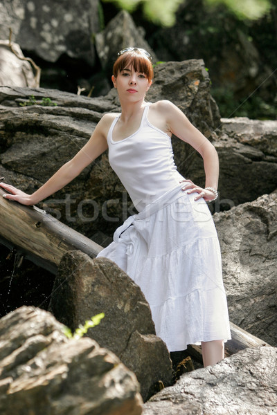 Young woman on a summer day Stock photo © markhayes