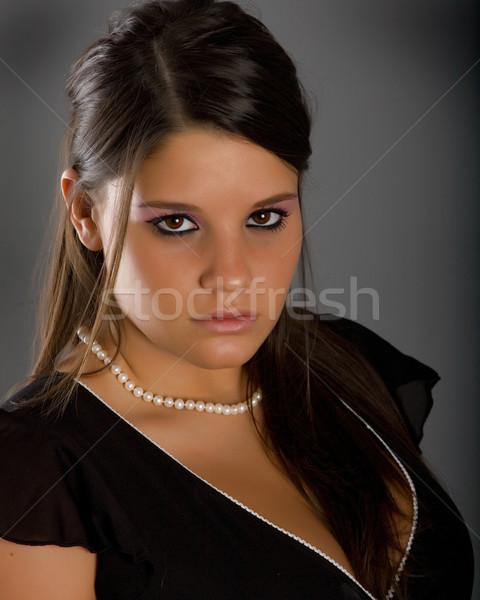 若い女性 肖像 ファッション 目 小さな 写真 ストックフォト © markhayes