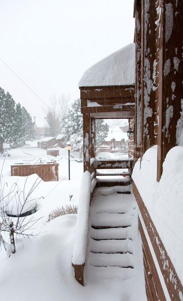 Inverno nevasca dezembro férias Colorado fotos Foto stock © markhayes
