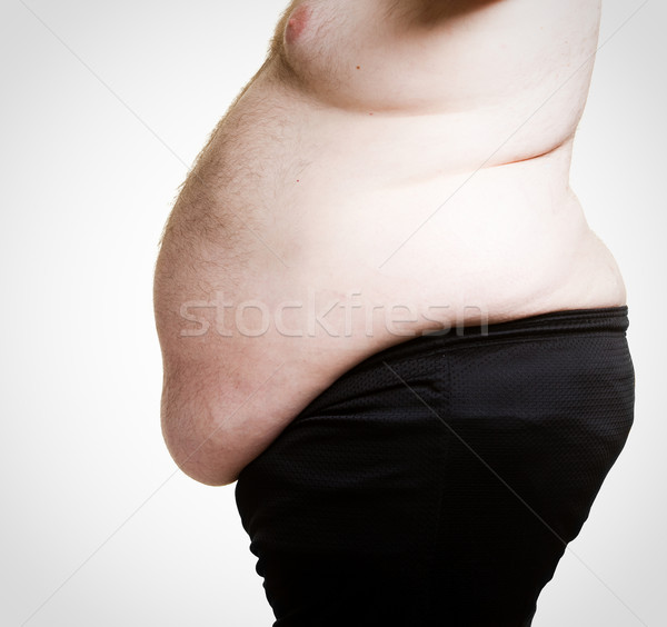 Grubas shot otyły piwa fitness tłuszczu Zdjęcia stock © markhayes