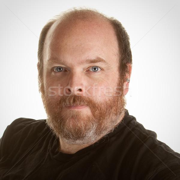 Obèse portrait personne Homme adulte Photo stock © markhayes