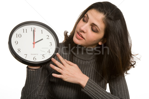 Woman with clock Stock photo © markhayes