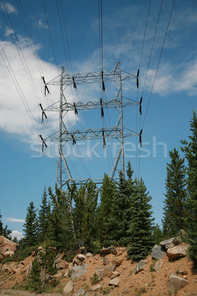 High Power line in Colorado Mountains Stock photo © markhayes