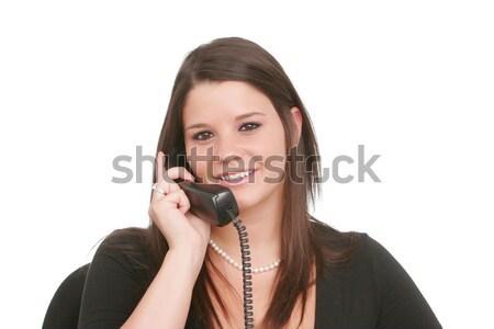 若い女性 電話 女性 ストックフォト © markhayes