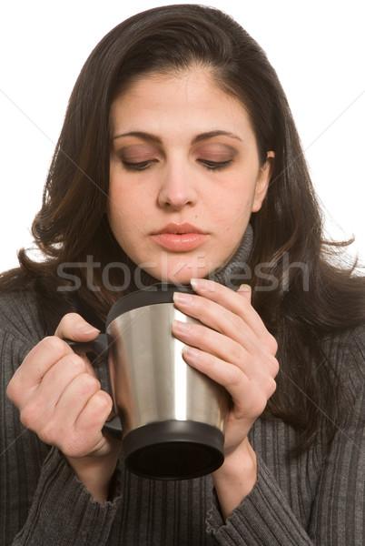 旅行 カップ 若い女性 飲料 コーヒー 女性 ストックフォト © markhayes