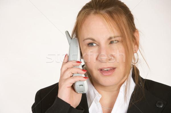 女性実業家 電話 成熟した 話し ワイヤレス 顔 ストックフォト © markhayes