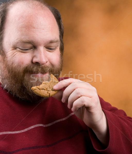 Man cookie te zwaar cookies home Stockfoto © markhayes