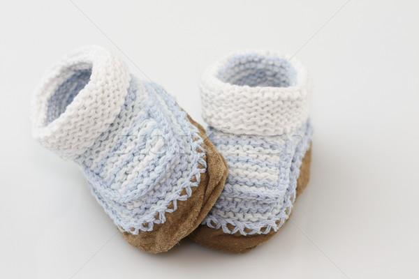 編まれた 赤ちゃん 糸 靴 少年 足 ストックフォト © markhayes
