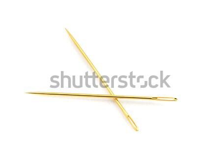 Dorado agujas par oro coser aguja Foto stock © markhayes