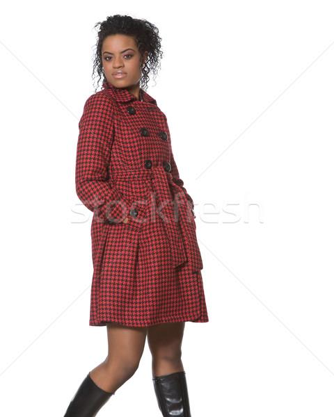 ファッション 小さな 女性 モデル ポーズ 女性 ストックフォト © markhayes