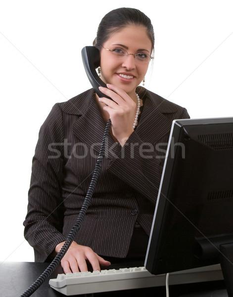 女性 作業 コンピュータ ストックフォト © markhayes