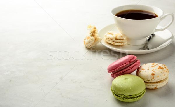 Сток-фото: чай · копия · пространства · Кубок · черный · белый · свет