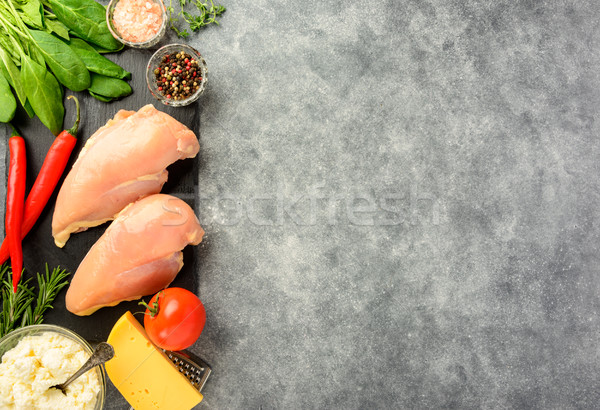 Prepared for cooking chicken fillet.  Stock photo © markova64el